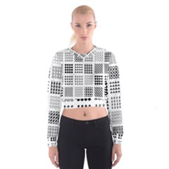 Retro Patterns Cropped Sweatshirt