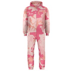 Pink Camo Print Hooded Jumpsuit (men)