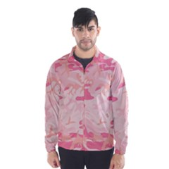Pink Camo Print Wind Breaker (men)