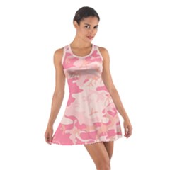Pink Camo Print Cotton Racerback Dress