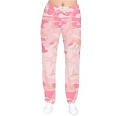 Pink Camo Print Drawstring Pants by Nexatart