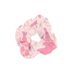 Pink Camo Print Velvet Scrunchie