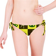 Bird And Snake Pattern Bikini Bottom