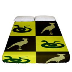 Bird And Snake Pattern Fitted Sheet (king Size)