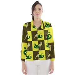 Bird And Snake Pattern Wind Breaker (women)