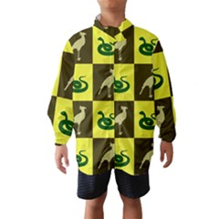 Bird And Snake Pattern Wind Breaker (kids)