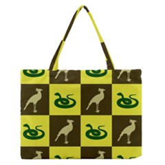 Bird And Snake Pattern Medium Zipper Tote Bag by Nexatart