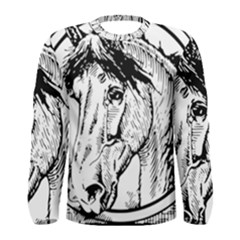 Framed Horse Men s Long Sleeve Tee