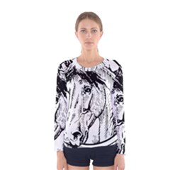 Framed Horse Women s Long Sleeve Tee