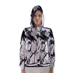 Framed Horse Hooded Wind Breaker (women)