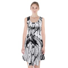 Framed Horse Racerback Midi Dress