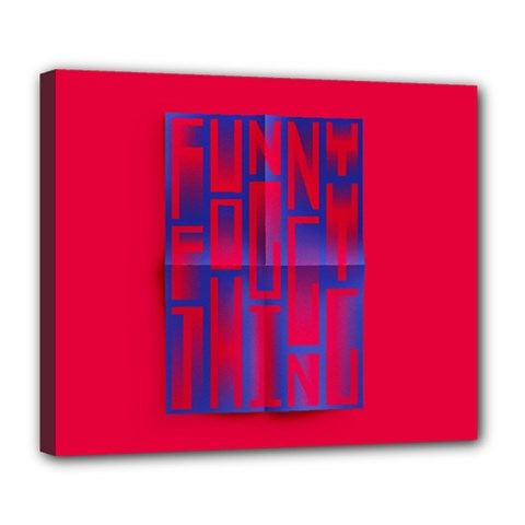 Funny Foggy Thing Deluxe Canvas 24  X 20