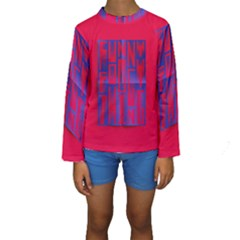 Funny Foggy Thing Kids  Long Sleeve Swimwear