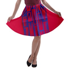 Funny Foggy Thing A-line Skater Skirt by Nexatart