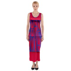 Funny Foggy Thing Fitted Maxi Dress