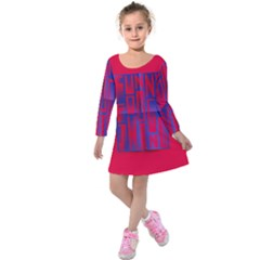 Funny Foggy Thing Kids  Long Sleeve Velvet Dress