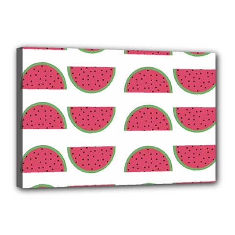 Watermelon Pattern Canvas 18  X 12  by Nexatart