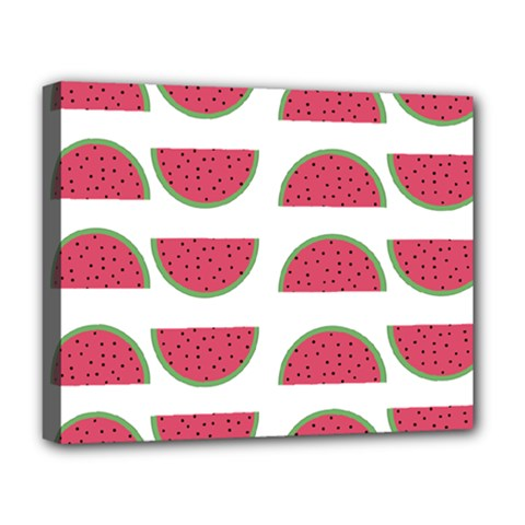 Watermelon Pattern Deluxe Canvas 20  X 16   by Nexatart
