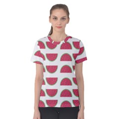 Watermelon Pattern Women s Cotton Tee