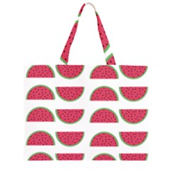 Watermelon Pattern Zipper Large Tote Bag by Nexatart