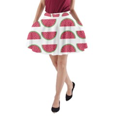 Watermelon Pattern A Line Pocket Skirt