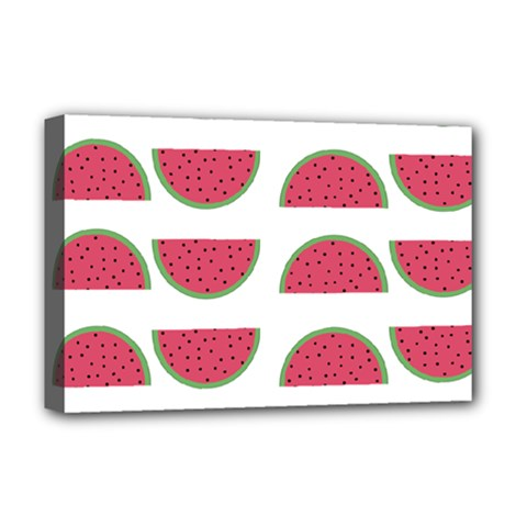 Watermelon Pattern Deluxe Canvas 18  X 12   by Nexatart