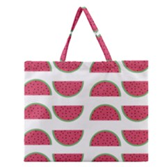 Watermelon Pattern Zipper Large Tote Bag