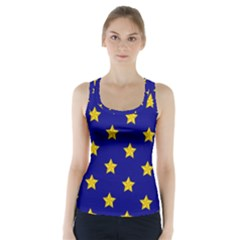 Star Pattern Racer Back Sports Top