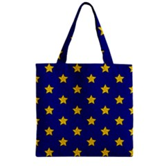 Star Pattern Zipper Grocery Tote Bag by Nexatart