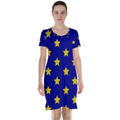 Star Pattern Short Sleeve Nightdress