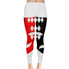 Face Mask Red Black Plaid Triangle Wave Chevron Leggings  by Mariart