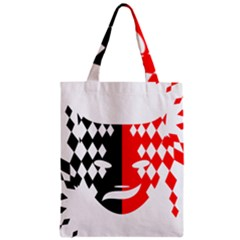 Face Mask Red Black Plaid Triangle Wave Chevron Zipper Classic Tote Bag by Mariart