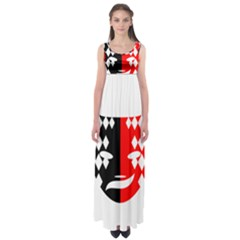 Face Mask Red Black Plaid Triangle Wave Chevron Empire Waist Maxi Dress