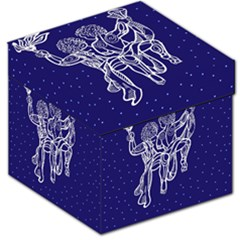 Gemini Zodiac Star Storage Stool 12   by Mariart