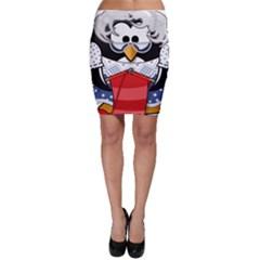 Grandma Penguin Bodycon Skirt