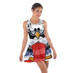 Grandma Penguin Cotton Racerback Dress
