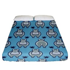 Funny Cow Pattern Fitted Sheet (queen Size)