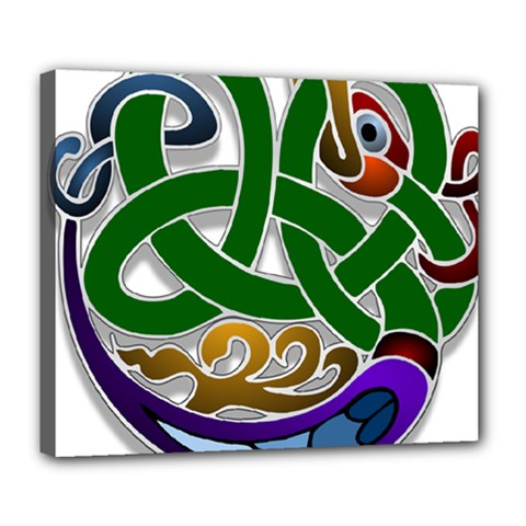 Celtic Ornament Deluxe Canvas 24  X 20   by Nexatart