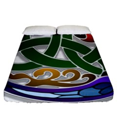 Celtic Ornament Fitted Sheet (queen Size) by Nexatart