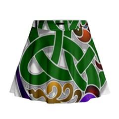 Celtic Ornament Mini Flare Skirt