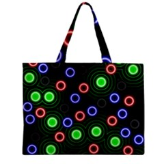 Neons Couleurs Circle Light Green Red Line Zipper Mini Tote Bag by Mariart