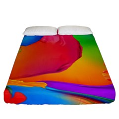 Paint Rainbow Color Blue Red Green Blue Purple Fitted Sheet (california King Size) by Mariart