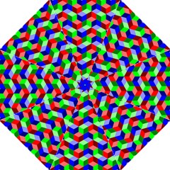 Seamless Rgb Isometric Cubes Pattern Golf Umbrellas by Nexatart