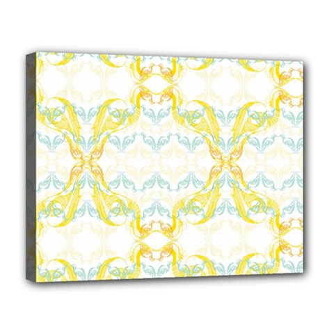 Crane White Yellow Bird Eye Animals Face Mask Canvas 14  X 11  by Mariart