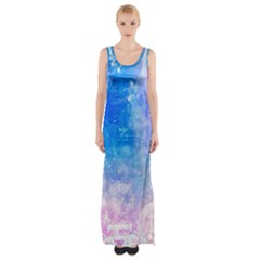 Horoscope Compatibility Love Romance Star Signs Zodiac Maxi Thigh Split Dress by Mariart