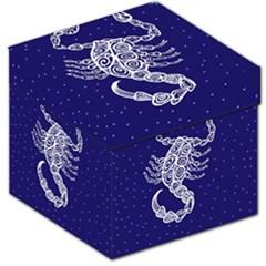 Scorpio Zodiac Star Storage Stool 12   by Mariart