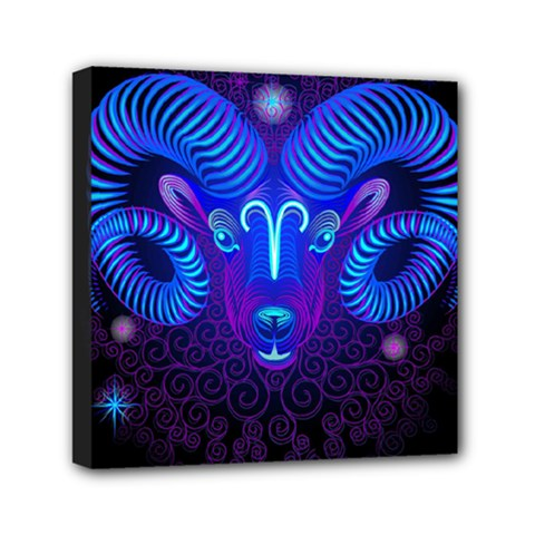 Sign Aries Zodiac Mini Canvas 6  X 6  by Mariart