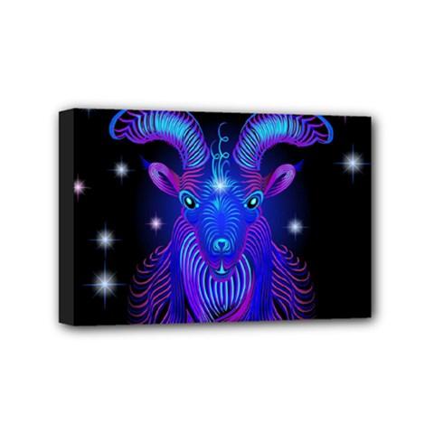 Sign Capricorn Zodiac Mini Canvas 6  X 4  by Mariart