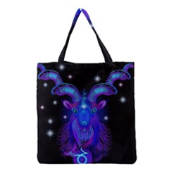 Sign Capricorn Zodiac Grocery Tote Bag by Mariart