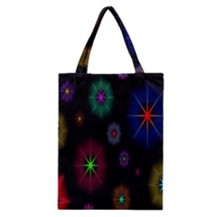 Star Space Galaxy Rainboiw Circle Wave Chevron Classic Tote Bag by Mariart